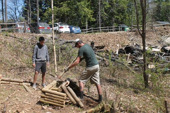 Cyrus Champey and Ryan McKernon at Camp Clean-Up Day