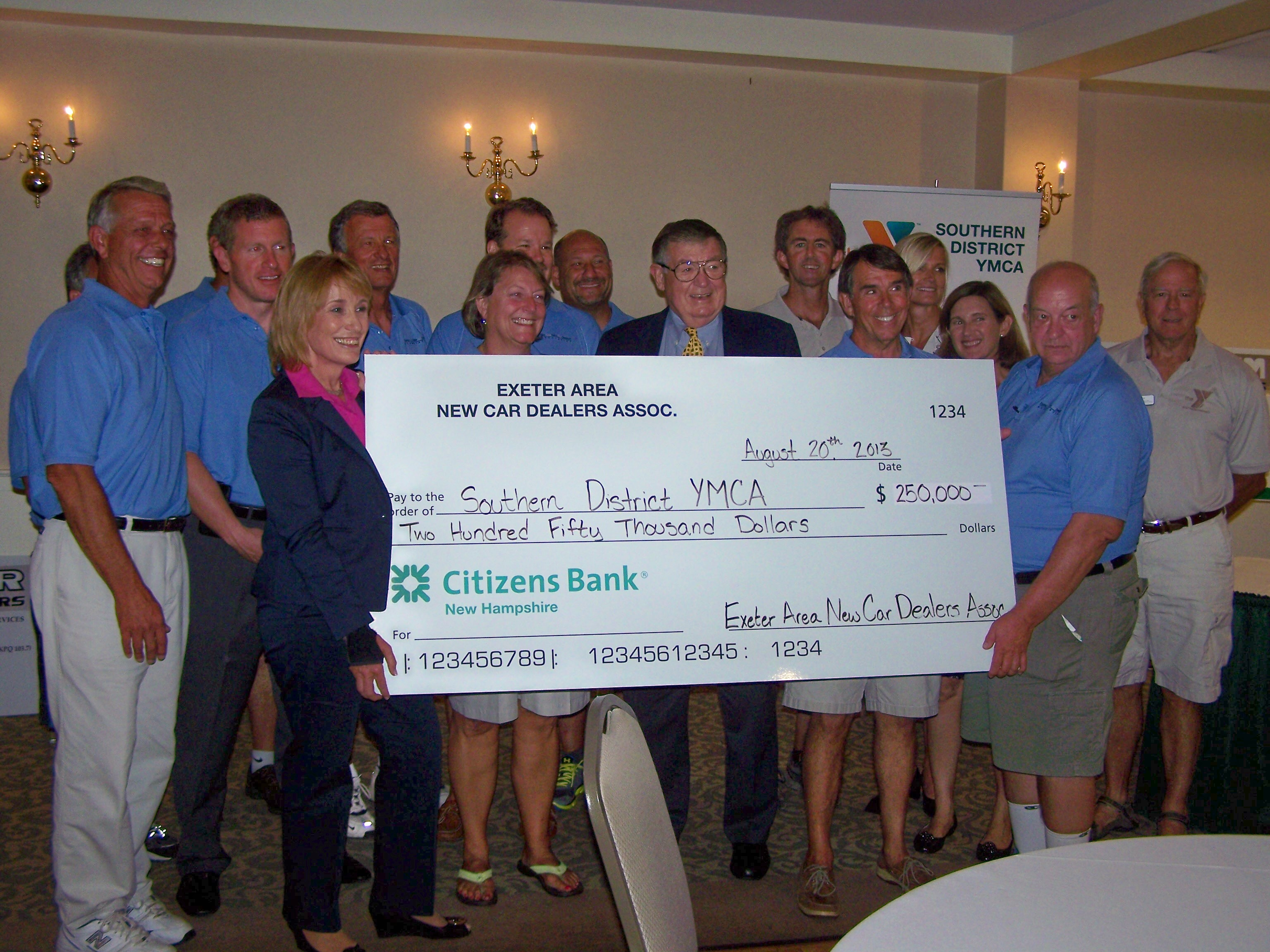 EANCDA presents donation check